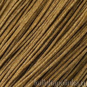 Шнур вощёный хлопковый светло-коричневого цвета, толщина 1 мм, в пасме 72метра