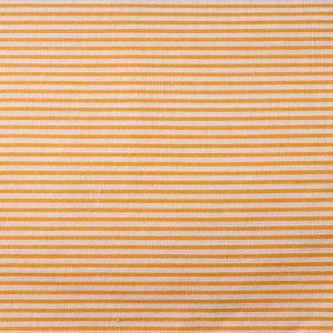 Ткань хлопковая в полоску, цвет полосок белый-оранжевый, ширина полоски 2мм