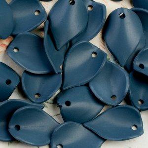 Акриловые лепестки Люсит, темно-синие матовые, непрозрачные, р-р 20х14мм, 30 шт акриловые лепестки Люсит, темно-синие матовые, непрозрачные, р-р 20х14мм