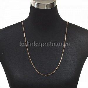 Цепочка для бижутерии, железная, якорное плетение, приплюснутая, цвет розовое золото, р-р 3х2х0.5мм