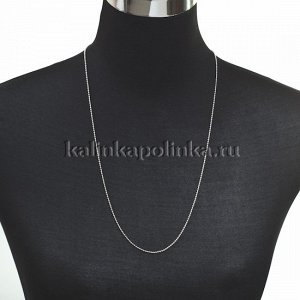 Цепочка для бижутерии, железная, шариковая, цвет серебро, р-р 1.5мм