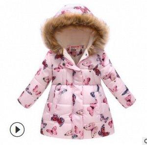 Куртка демисезон на флисе для девочки ЗАМЕРЫ