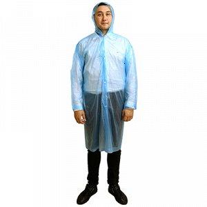 Дождевик-плащ 66х112см, на кнопках, рукава на резинке, PEVA, цвета микс (Китай)