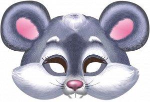 """Картонная маска на резинке """"Мышка"""""""