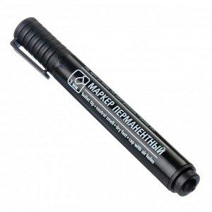 Маркер перманентный черный, пулевидный наконечник, линия 3мм