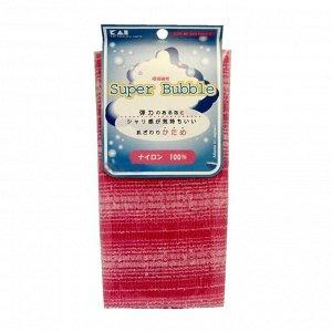 Мочалка для тела (с объемным плетением средней жесткости), 30 см х 100 см. Цвет: Нежно-розовый