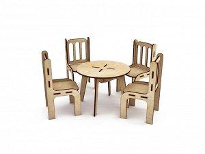 Кухонный стол со стульями для больших кукол