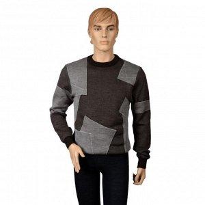 Джемпер мужской с шерстью Яка с геометрическим рисунком