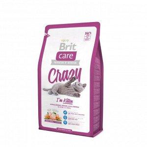 Сухой корм Brit Care Cat Crazy Kitten для беременных, кормящих кошек и котят, 2 кг
