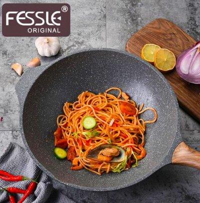 #Осенние новинки💥Набор сковородок AMERCOOK от 399 руб -5!  — Серия посуды Fessle - с силиконовым покрытием! — Посуда