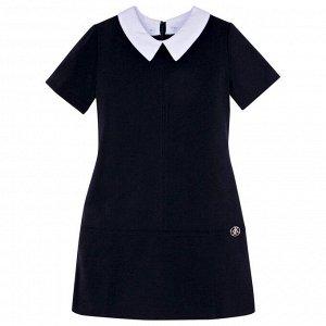 Платье школьное Техноткань темно-синего цвета для девочки