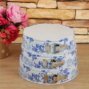 Набор форм для выпечки разъёмных «Филиси. Круг», 3 шт: 24/26/28 см, керамическое покрытие