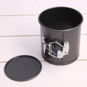 Форма для выпечки разъёмная «Элин», 10х10 см, антипригарное покрытие