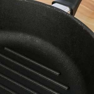 Сковорода-гриль 28х6 см литая, чугунная крышка