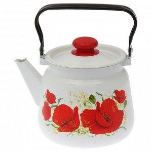 Чайник «Маки» 3,5 л, эмалированная крышка