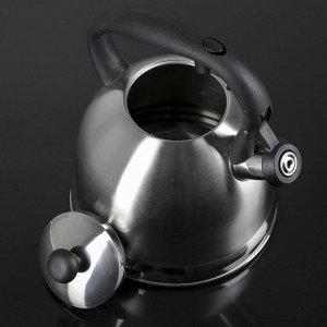 Чайник со свистком «Сильвер», 3 л, капсулированное дно, индукция