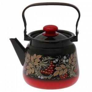 Чайник «Рябинка» 3,5 л, цвет красно-чёрный МИКС