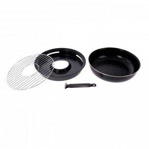 Сковорода «Гриль-газ», d=33 см, с антипригарным покрытием, отверстие 10,5 см