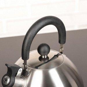 """Чайник со свистком 2 л """"Торенто. Блеск"""", цвет серебристый"""