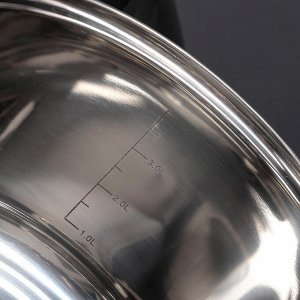 """Набор посуды """"Меди"""", 3 предмета: кастрюли 5,1 л /4,2 л/2,9 л, стеклянные крышки"""