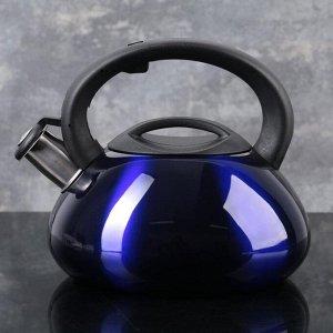 """Чайник со свистком 3 л """"Таун"""", цвет синий"""