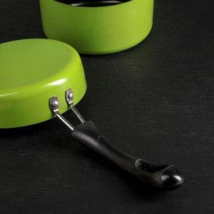 """Набор посуды """"Дуэт"""", 2 предмета: ковш с крышкой 14х7 см, сковорода 14 см, индукция"""