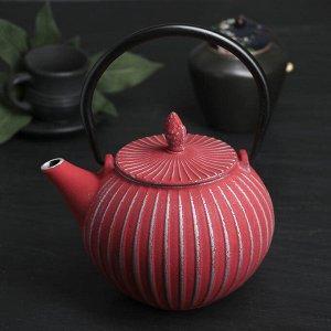 """Чайник с ситом 850 мл """"Тео"""", цвет красный"""