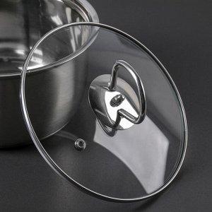 Набор посуды «Хести», 2 предмета: кастрюля 22 см, ковш 18 см, капсульное дно, толщина 0,5 см