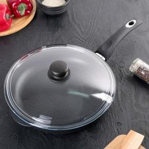 Сковорода «Классик», 28х6 см, стеклянная крышка