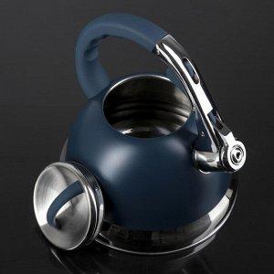 "Чайник со свистком 3 л ""Пуэрто"", индукция, цвет синий"