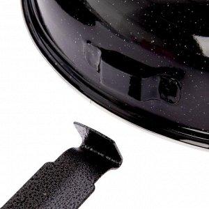 Сковорода 33 см «Гриль-газ», эмалированное покрытие, отверстие 10,5 см