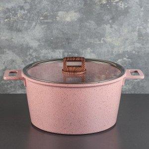 Набор посуды «Пинк», 4 предмета: кастрюли 8/6 л ,сковорода 30х4,5 см, ковш 2 л, набор приборов