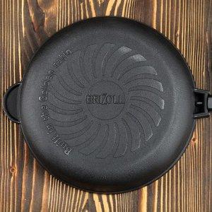 """Сковорода чугунная """"ОПТИМА-BLACK"""", 260 х 40 мм, ТМ BRIZOLL"""