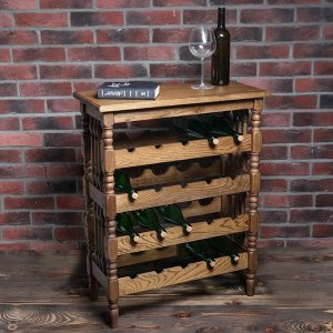 """Стеллаж винный """"Классический"""". 20 бутылок. 85х68х32 см. массив дуба. светлого дуба"""