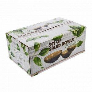 Набор салатников Basilico, 8 предметов: 6 шт d=13 см, 270 мл, 2 салатника d=20 см, 1,6 л