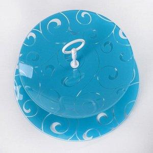 """Этажерка 2-ярусная 24х30 см """"Марокко"""", цвет голубой, подарочная упаковка"""