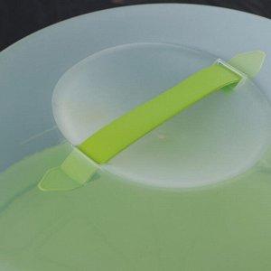 Блюдо для торта и пирожных с крышкой, двухстороннее, d=33 см, цвет МИКС