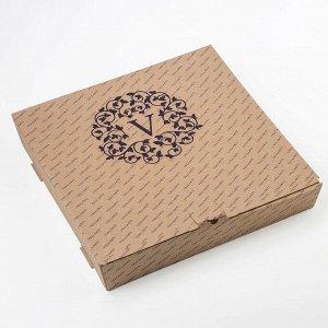 Этажерка 2-ярусная 30х21 см, цвет бронзовый, подарочная упаковка, основание МИКС