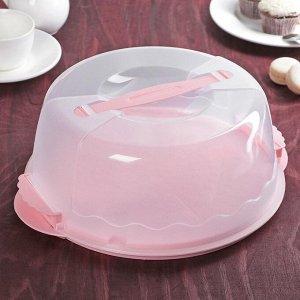 Контейнер для торта, d=29 см, цвет МИКС