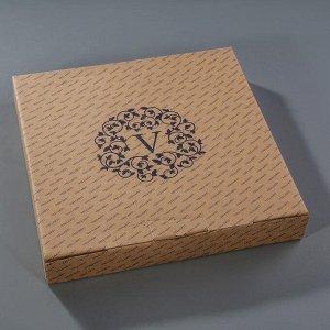 Этажерка 2-ярусная 30х21 см, подарочная упаковка, основание МИКС