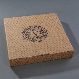 Этажерка 2-ярусная 19,5х29,5 см, подарочная упаковка, основание МИКС