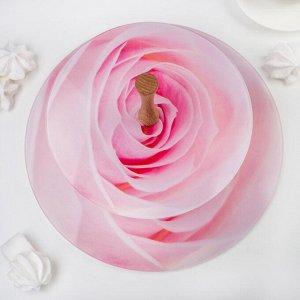 Этажерка «Розовая роза», 2-х ярусная, плоская в подарочной упаковке