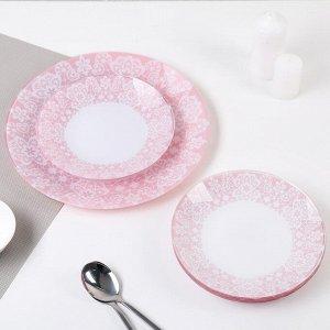 Сервиз столовый «Кружево» на 6 персон: 6 тарелок d=20см, 1 тарелка d=30 см