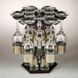 Мини-бар 18 предметов шампанское Карусель Византия, темный 200/55/50 мл