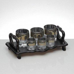 Мини-бар 6 предметов стаканы+стопки, скандинавия 250/50 мл