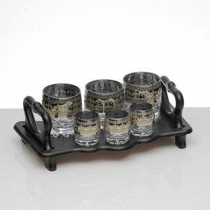 Мини-бар 6 предметов стаканы+стопки, Византия 250/50 мл