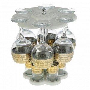 Мини-бар 12 предметов вино, византия, светлый 240/50 мл