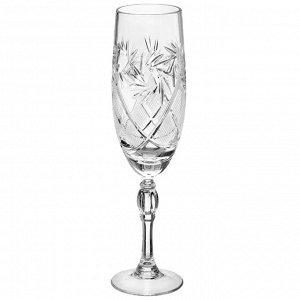 Набор фужеров для шампанского НЕМАН «Мельница», 6 шт, 170 мл, хрусталь