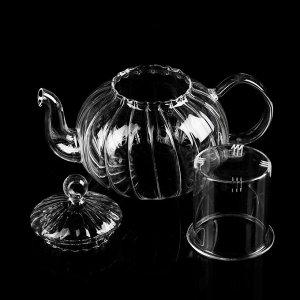 Чайник заварочный «Диана», 800 мл, со стеклянным ситом