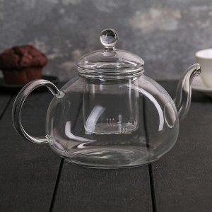 Чайник заварочный со стеклянным ситом «Валенсия», 1 л